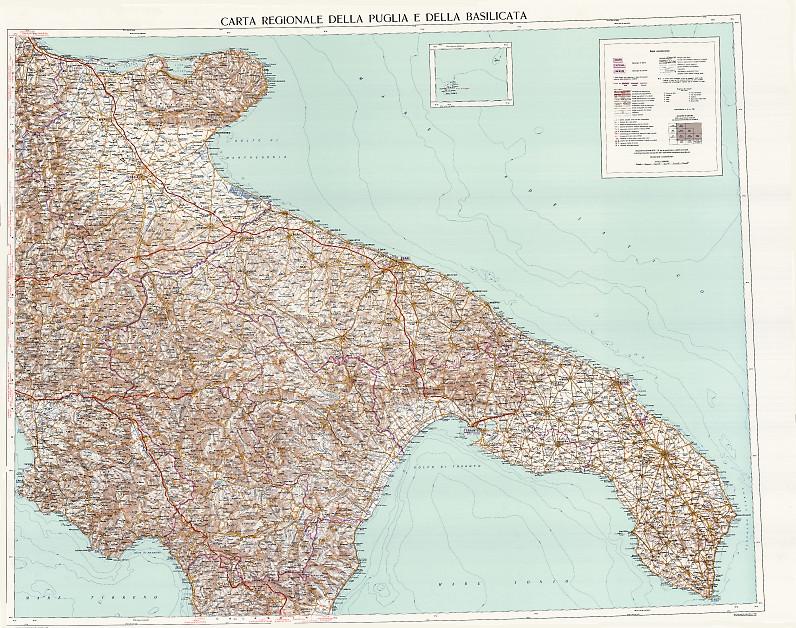 Cartina Igm Puglia.Puglia Basilicata Puglia Basilicata Raster Serie 250 Regioni Formato Ed50 Igm E Commerce Site