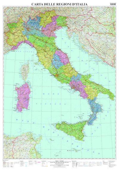 Carta d'Italia Regioni